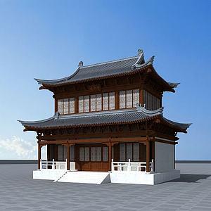 觀音寺模型3d模型