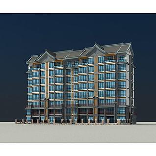现代住宅楼3d模型