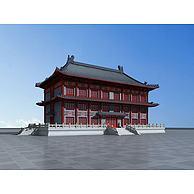 唐代宫殿3D模型3d模型