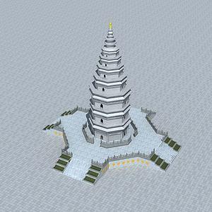 佛塔模型3d模型