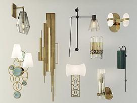 现代创意壁灯模型