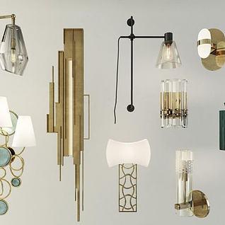 现代创意壁灯3d模型