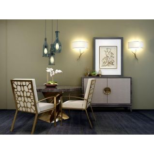现代奢华餐桌椅餐边柜组合3d模型