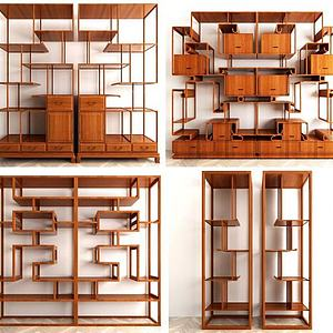 中式博古架組合模型3d模型