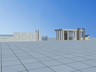 门卫室3d模型