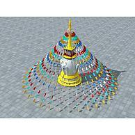 藏族经幡3D模型3d模型