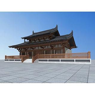 唐代宫殿建筑3d模型