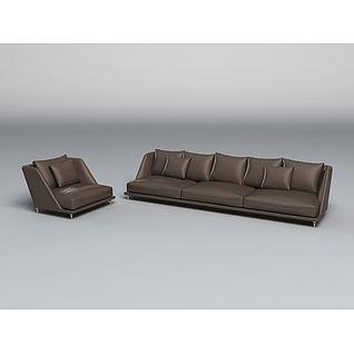 楷模拿铁妮可沙发3d模型
