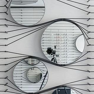 墙壁镜子装饰品3d模型