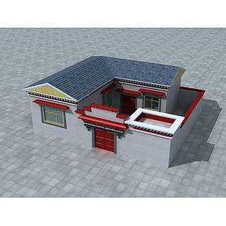 藏族民房3d模型