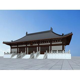 唐代天王殿3d模型