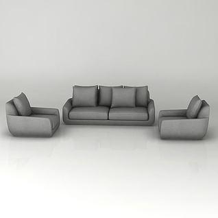 客厅组合沙发3d模型