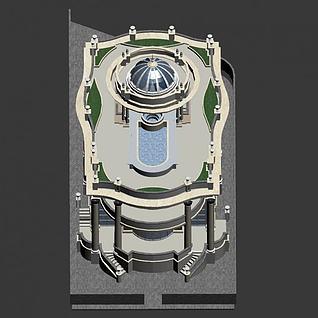 西域风格别墅3d模型