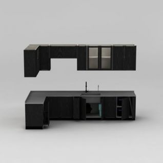开放漆橱柜3d模型