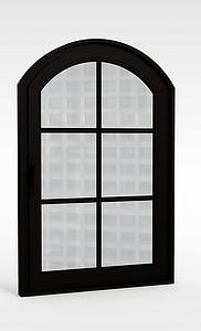 歐式窗戶模型3d模型