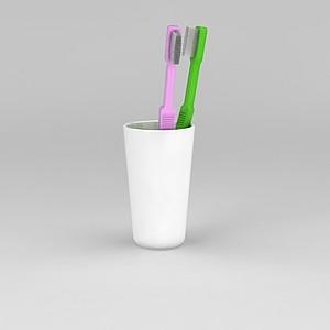 情侣牙具模型