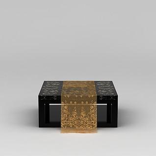 客厅方形茶几3d模型