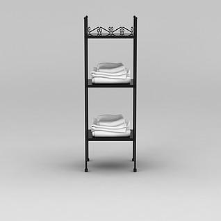 浴室毛巾架3d模型