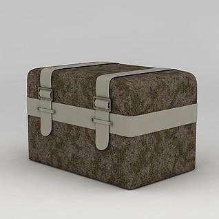 复古箱子3d模型