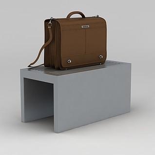 棕色单肩包3d模型3d模型