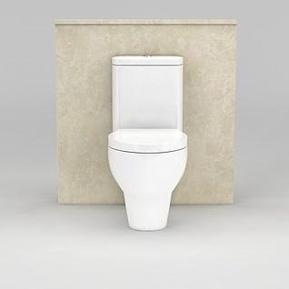 卫生间马桶3d模型