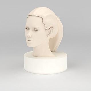 人头像雕塑3d模型