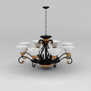 欧式吊灯3d模型3d模型