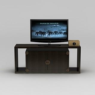 中式电视柜3d模型3d模型