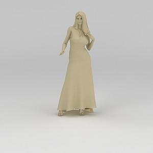 女人雕塑模型3d模型