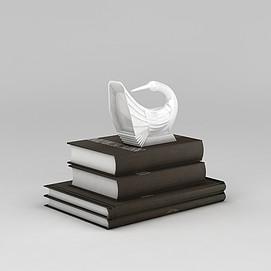 3d书籍和<font class='myIsRed'>天鹅</font>摆件模型