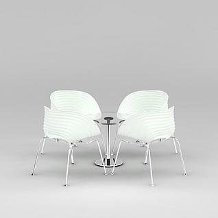 公司休闲桌椅3d模型3d模型