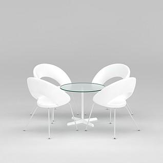 洽谈桌椅组合3d模型3d模型