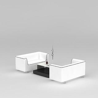 休闲洽谈沙发茶几3d模型3d模型
