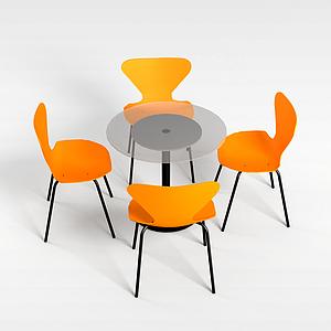 洽谈桌椅模型