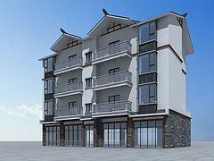 中式住宅建筑模型3d模型