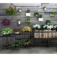 庭院植物装饰墙3D模型3d模型