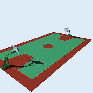 籃球場模型3d模型