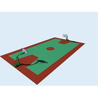 篮球场3d模型3d模型