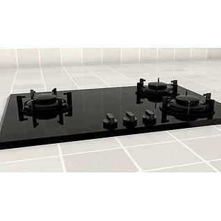 瓦斯炉3d模型