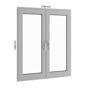 白色平开窗户模型
