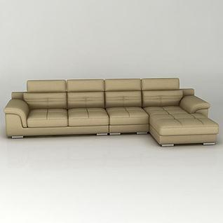 组合拐角沙发3d模型