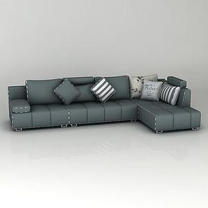 組合拐角沙發模型3d模型