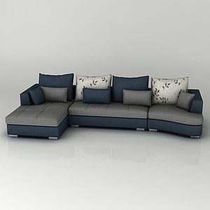 中式組合沙發模型3d模型