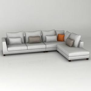 簡約組合沙發模型3d模型