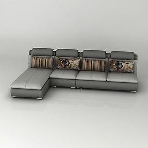 簡約轉角沙發模型3d模型
