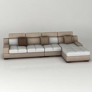 转角沙发3d模型