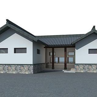 室外厕所3d模型
