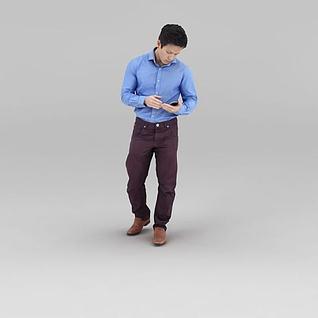 衬衣男人3d模型