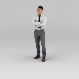 白色衬衣男人3d模型