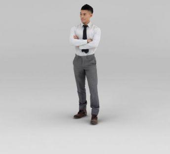 白色衬衣男人